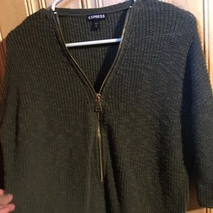 Gently Used Dark Olive Green Express Sweater